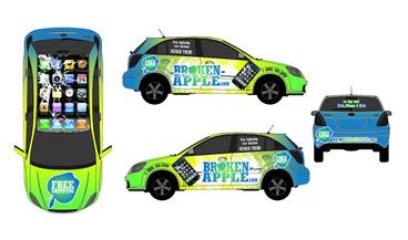 Vehicle Wrap Design example